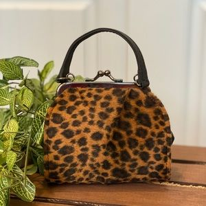 Adorable Mini Faux Fur Animal Print Bag